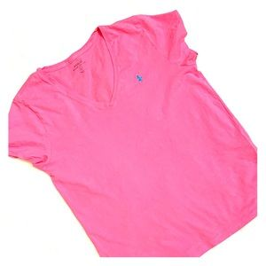 Hot pink Polo T-shirt. Large.